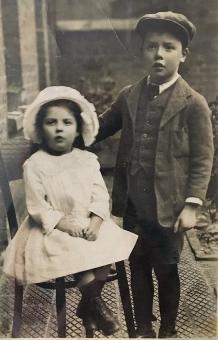 Edward's children Edna and Alec