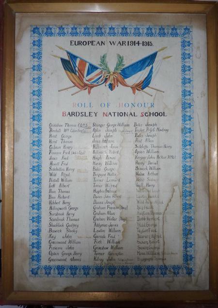 Bardsley School Roll of Honour
