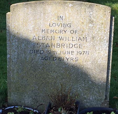 The Grave of Alban William Stanbridge