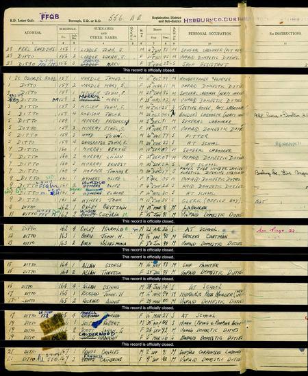1939 England & Wales Register
