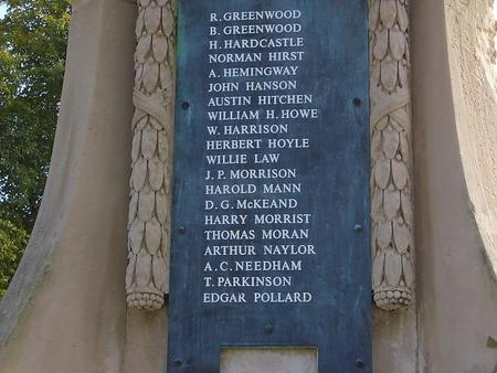 Private Richard Greenwood (1888 - 3 Oct 1916)