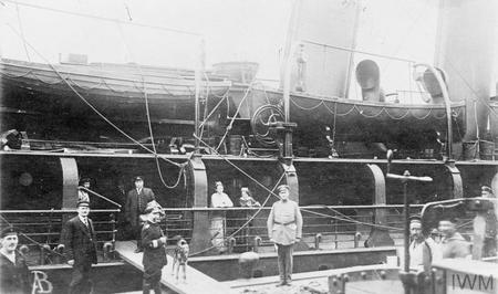 Captain Charles Fryatt boards his ship SS Brussels