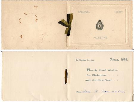 Military Christmas Card 1918