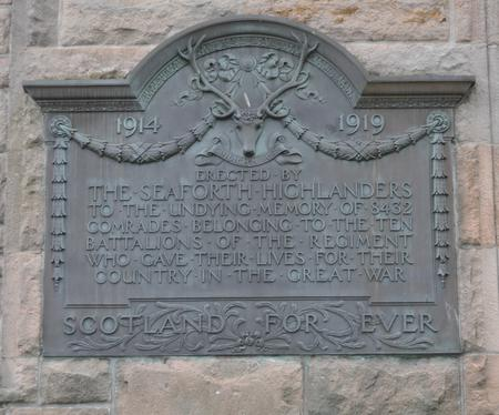Seaforth Highlanders Memorial, Cooper Park, Elgin