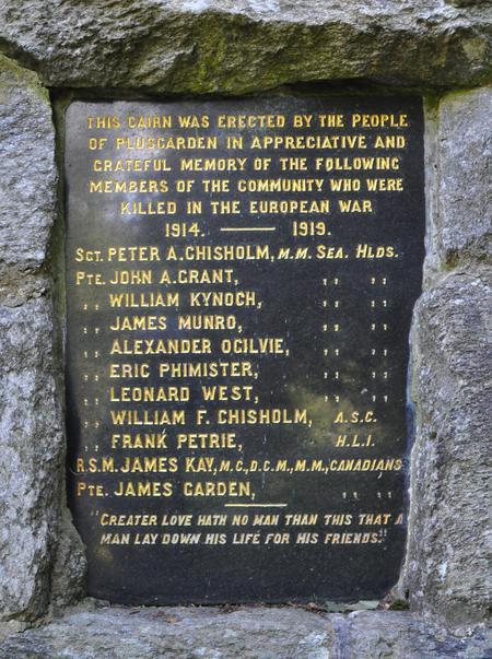 Pluscarden War Memorial, Moray 2
