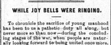 Report of Joseph Bramwell's death