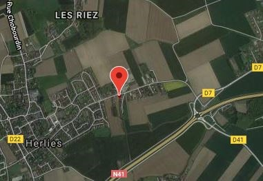 Location of Royal Irish graves at Le Pilly