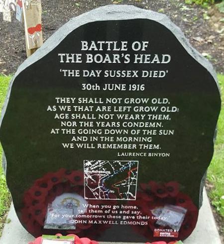 Boar's Head Memorial in Worthing