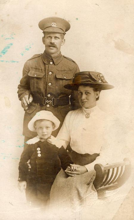 Thomas Barker and family circa 1916.