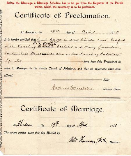 Proclamation of Marriage