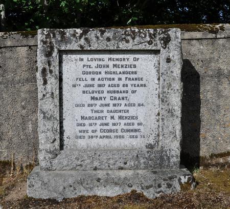 Family Grave of John Menzies