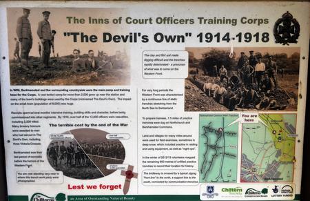 Inns of Court OTC Information Board on Berkhamsted