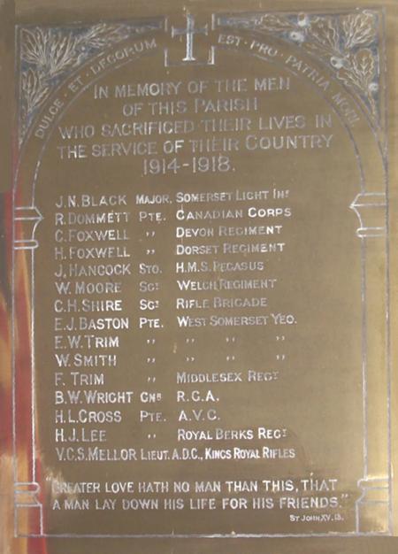 Churchstanton War Memorial