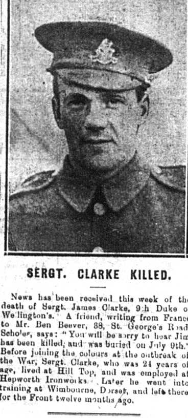 Newspaper report of his death