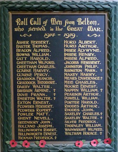 The Belton Roll of Honour