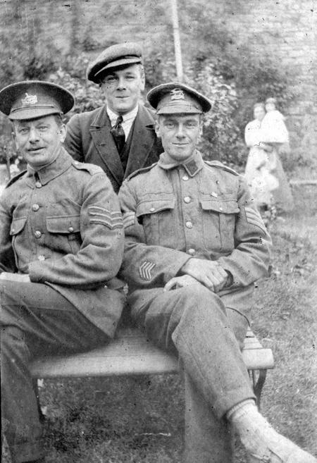 Ball, William Harold with father and brother