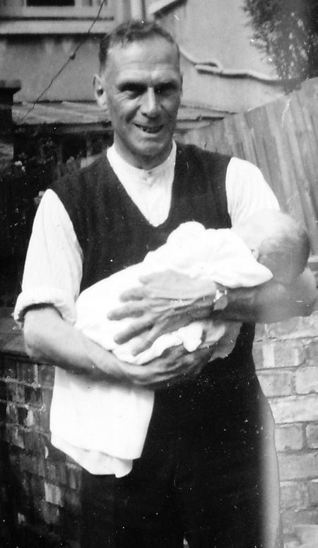 Ball, William Harold and his first grandson, 1948