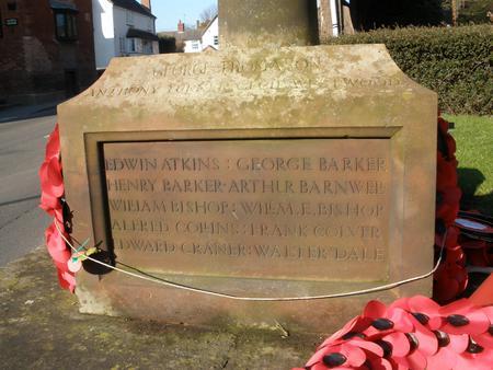Fillongley War Memorial (Warks CV7 8ET)