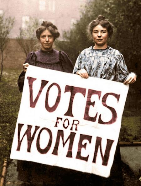 Annie Kenney and Christabel Pankhurst.