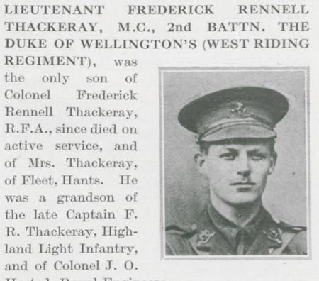 Profile picture for Frederick Rennell Thackeray