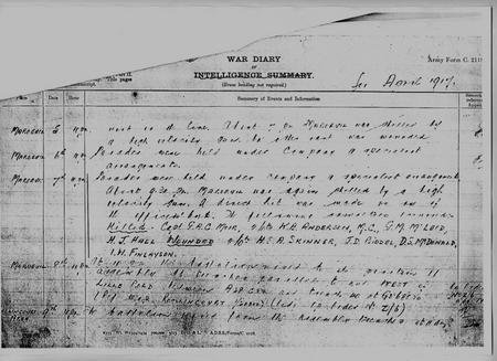 War Diary, Gordon Highlanders