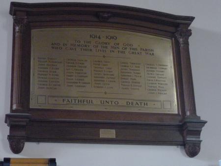 Brass Memorial Tablet