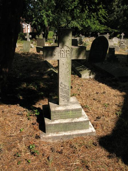 Headstone on the Ashton grave
