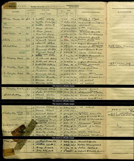 1939 register - Robert Spencer Ashworth