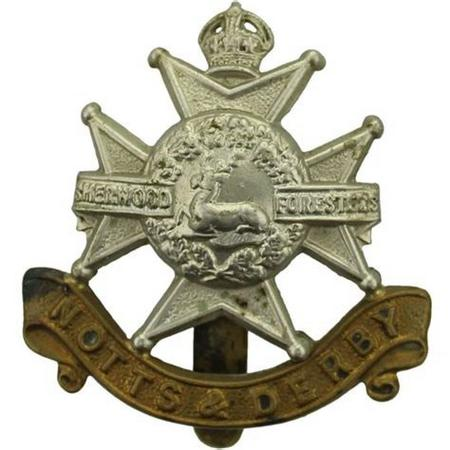 Nottinghamshire and Derbyshire Regiment cap badge