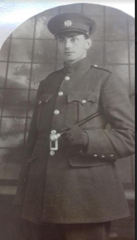Edmond Donovan in Garda uniform