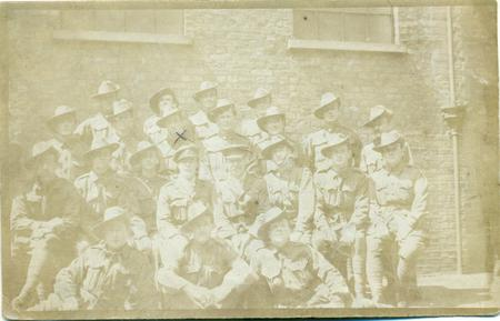 Ernest Crook with fellow soldiers