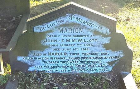 Harold Willott remembered Barnsley Cemetery