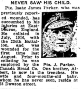 Private Isaac James Parker