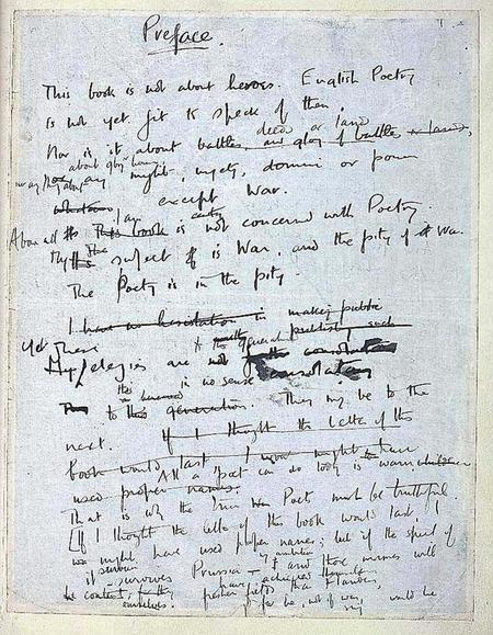 Wilfred Owen's 'Preface'