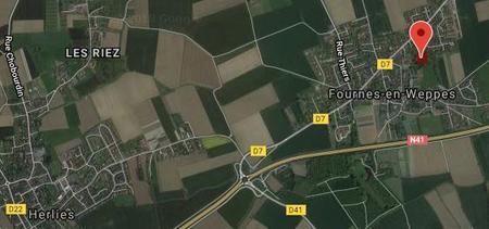 Original location of Royal Irish graves