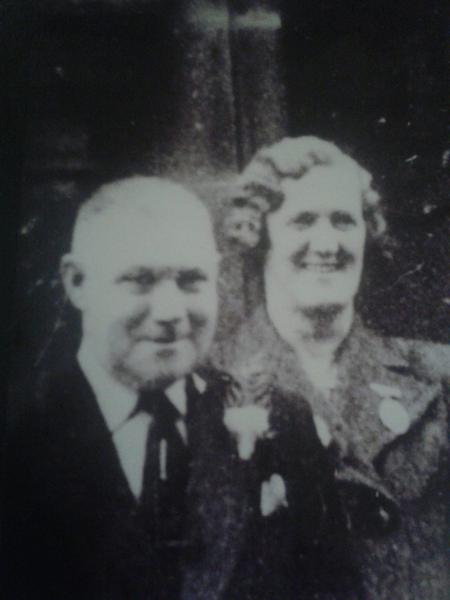 James and Elizabeth Thompson. Married 1917.