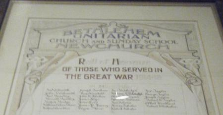 Bethlehem Unitarian Church - Memorial Scroll