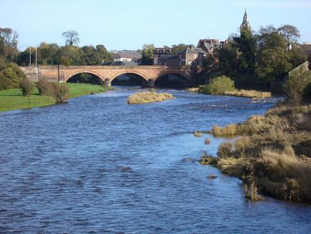 The Annan river and town, Dumfriesshire, Scotland