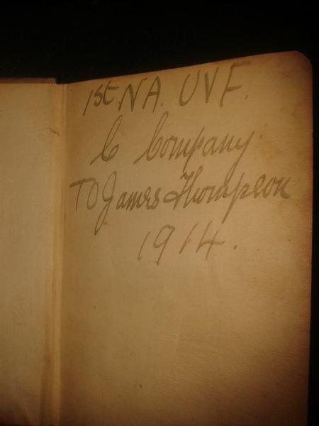 The Inscription on James' Bible.