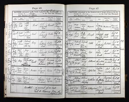 baptism register