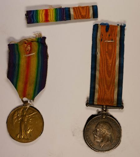 Service medals for Thomas James Morley