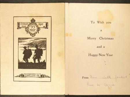 95th Infantry brigade Christmas card sent from Tom