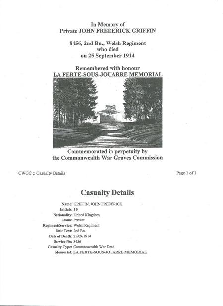 Information contained in War Cemetery