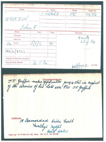 Posthumous Application for medals
