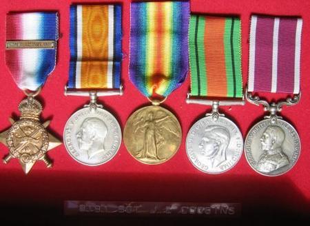 Medals of Sergeant 8191 J.E. Coggins