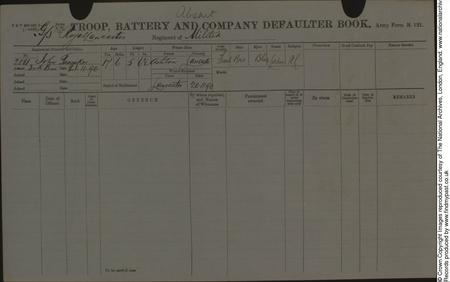 Pre-War Militia Attestation Record Page 4.