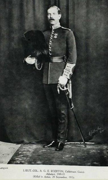 Lt. Colonel Arthur G E Egerton