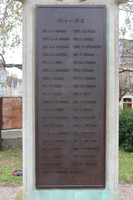 Porthcawl War Memorial.