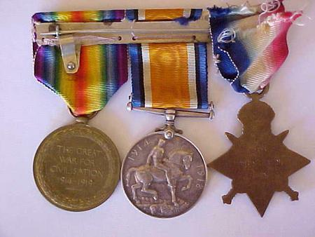 Grandad's medals, as they were passed to me.