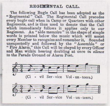 Image of the music for the CSR bugle call